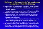 challenges in pharmacokinetic pharmacodynamic assessments in pediatric oncology