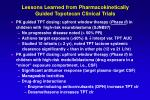 lessons learned from pharmacokinetically guided topotecan clinical trials22