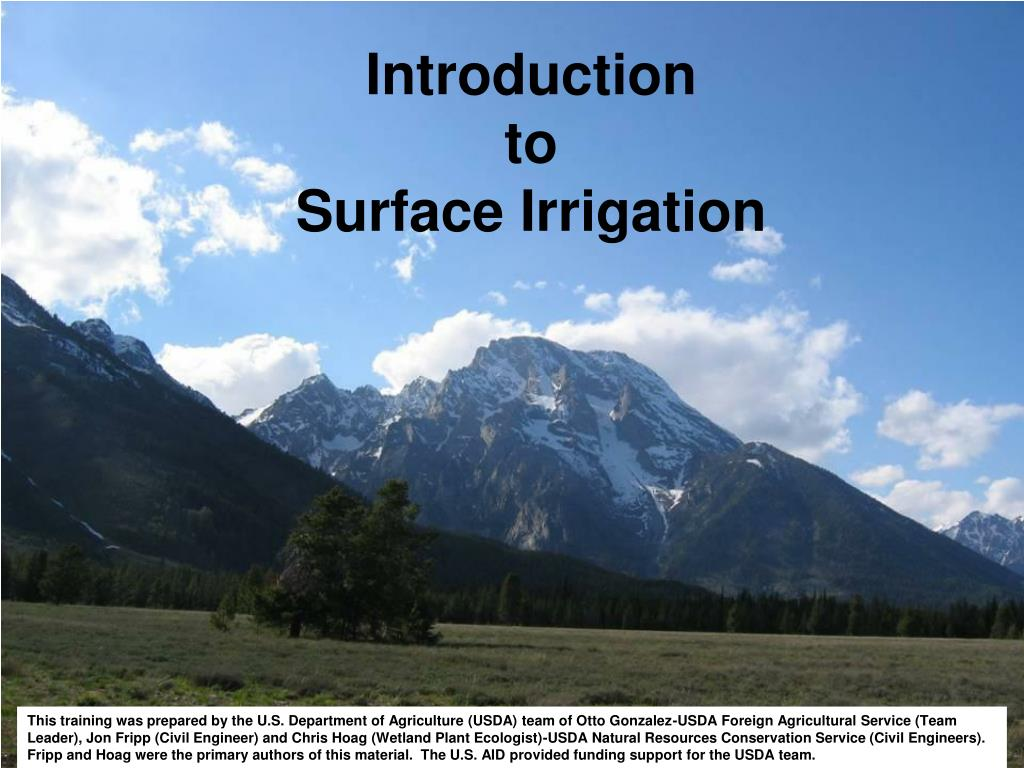 introduction to surface irrigation l.