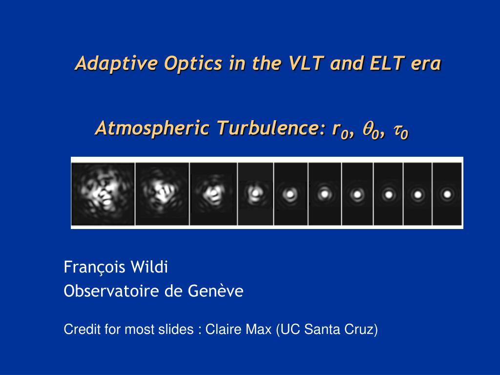 atmospheric turbulence r 0 0 0 l.