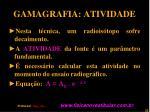 gamagrafia atividade