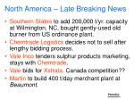 north america late breaking news