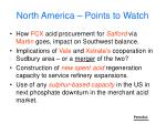 north america points to watch