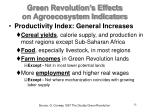 green revolution s effects on agroecosystem indicators
