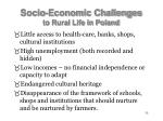 socio economic challenges to rural life in poland55