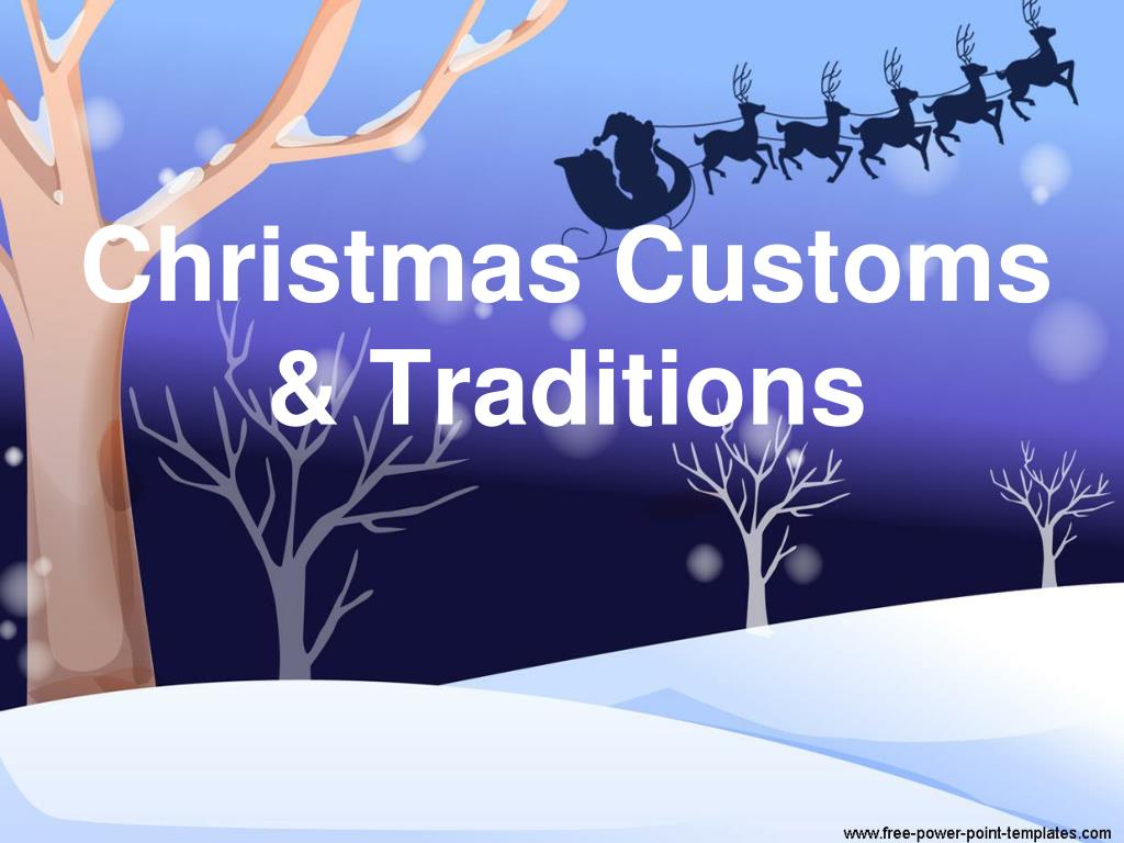 christmas customs traditions l.