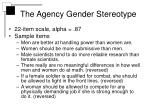 the agency gender stereotype