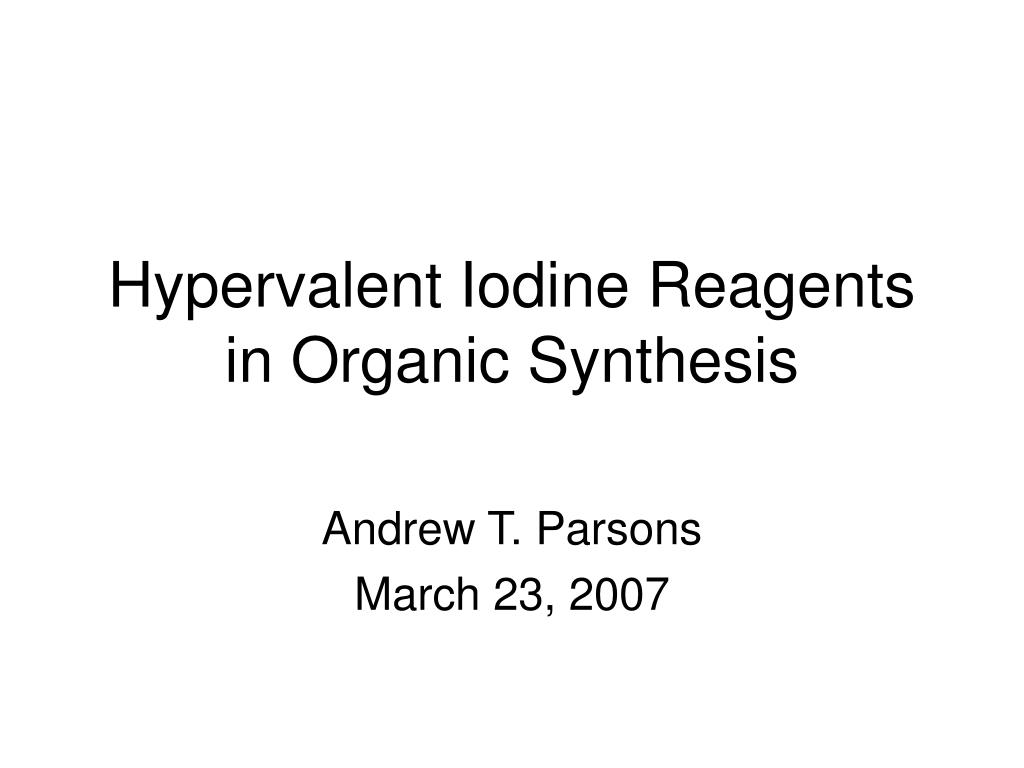 hypervalent iodine reagents in organic synthesis l.