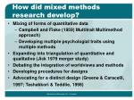 how did mixed methods research develop