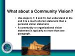 what about a community vision