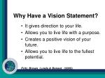 why have a vision statement