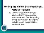 writing the vision statement cont9