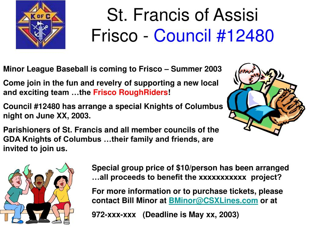 St Francis Frisco >> Ppt St Francis Of Assisi Frisco Council 12480