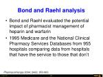 bond and raehl analysis