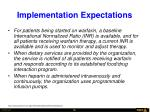 implementation expectations56