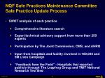 nqf safe practices maintenance committee safe practice update process