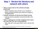 step 1 review the literature and network with others