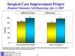surgical care improvement project hospital voluntary self reporting qtr 2 2007