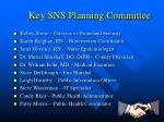 key sns planning committee
