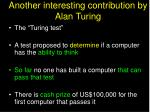 another interesting contribution by alan turing