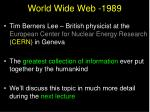 world wide web 1989