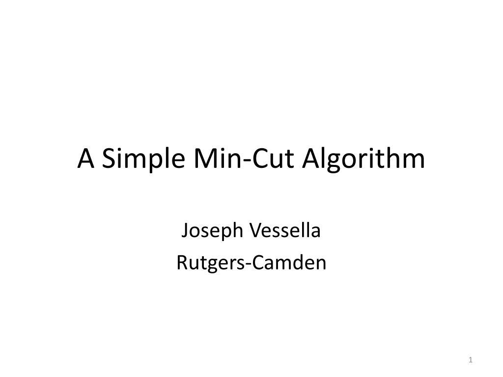 a simple min cut algorithm l.