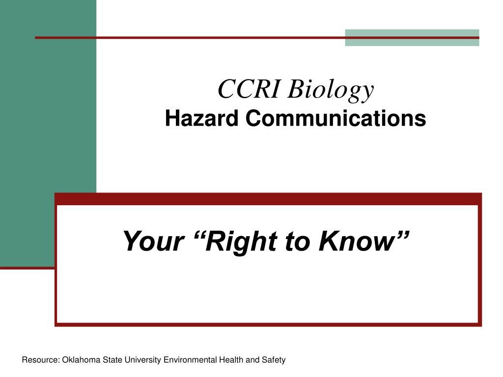 ccri biology hazard communications l.