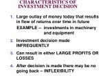 characteristics of investment decision