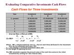 evaluating comparative investments cash flows63