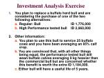 investment analysis exercise