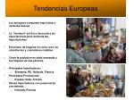 tendencias europeas