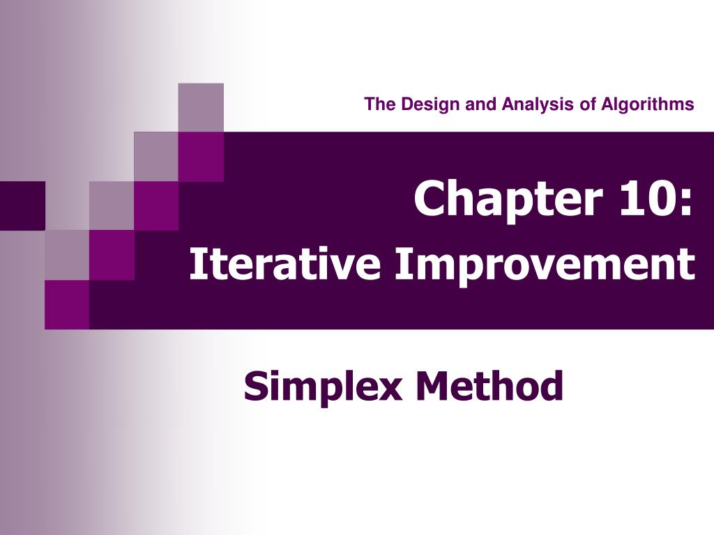 chapter 10 iterative improvement l.