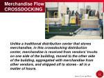 merchandise flow crossdocking