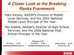a closer look at the breaking ranks framework