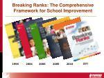 breaking ranks the comprehensive framework for school improvement2