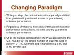 changing paradigm