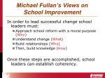 michael fullan s views on school improvement