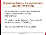 organizing schools for improvement lessons from chicago