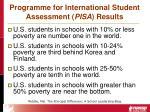 programme for international student assessment pisa results