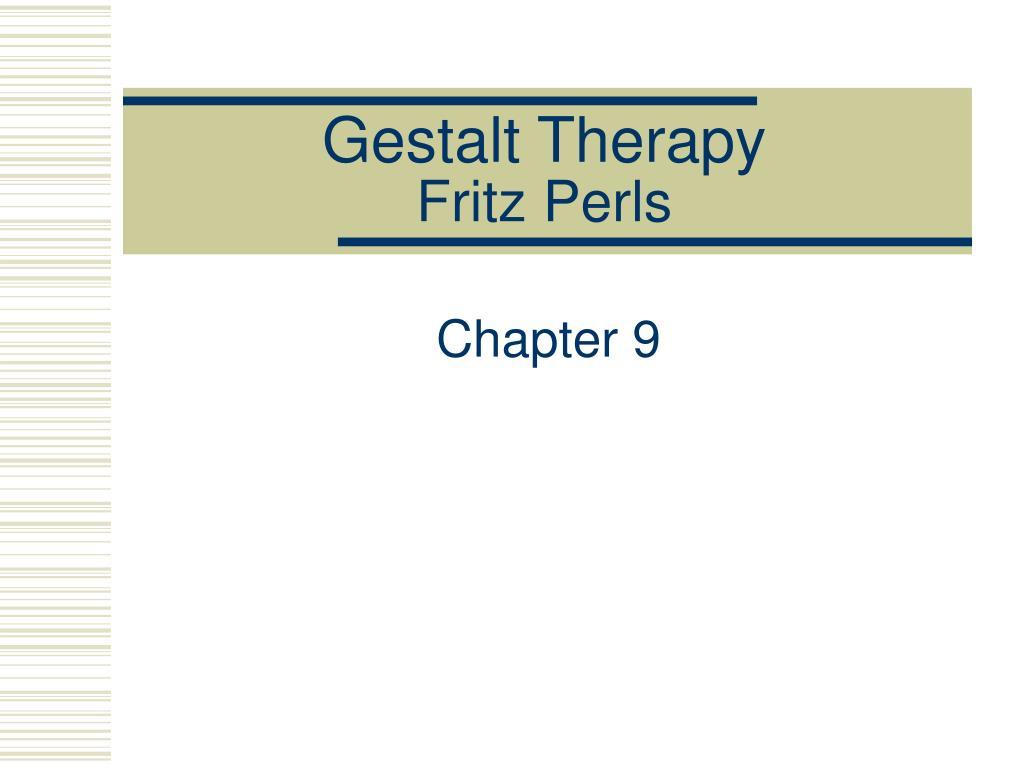 gestalt therapy fritz perls l.