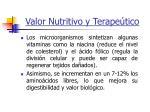 valor nutritivo y terape tico