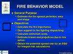 fire behavior model