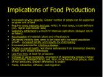 implications of food production