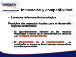 innovaci n y competitividad