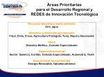 reas prioritarias para el desarrollo regional y redes de innovaci n tecnol gica
