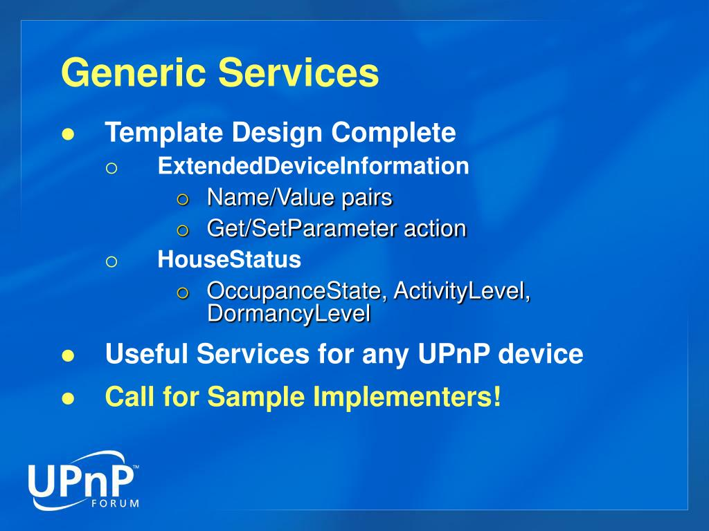 Generic Services