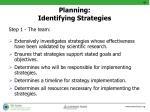planning identifying strategies2