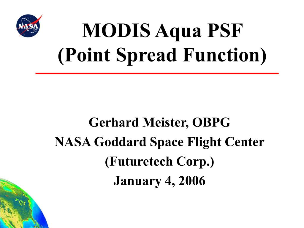 modis aqua psf point spread function l.