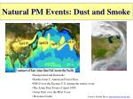 natural pm events dust and smoke
