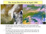 the asian dust event of april 1998